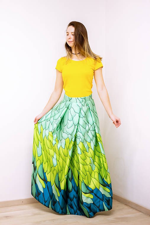Maxi sukňa Tancujúci drak