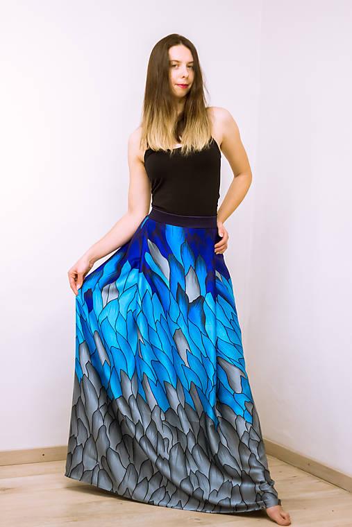 Maxi sukňa Ľadový drak