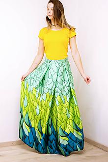 Sukne - Maxi sukňa Tancujúci drak - 11996237_