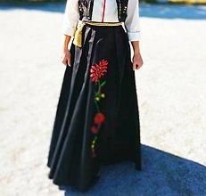 Sukne - Sale! Ručne maľovaná sukňa zo 188 eur na 159 - 12000030_