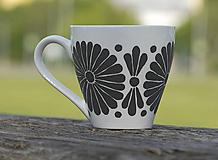 Nádoby - kvetinová šalka - sivá/b - 11996504_