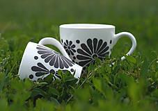 Nádoby - kvetinová šalka - sivá/b - 11996506_