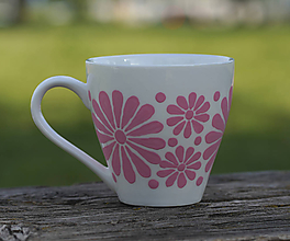 Nádoby - kvetinová šalka - rúžová - 11996496_