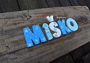 Detské doplnky - drevené písmenká - 11998604_