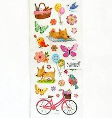 Papier - Samolepky, piknik, pes, bike, balón, motýľ - 11998196_