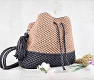 Kabelky - Kabelka batohová Čokoláda s karamelom - 12000348_