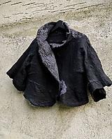Topy - Čierno šedé vlnené bolero - 12000360_