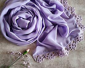 Šály - Světluška zimních rán - šifónový šál lila - 11998236_