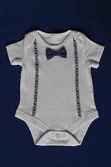 Detské oblečenie - novorodenecké body na krst veľkosť 56 - 12000020_