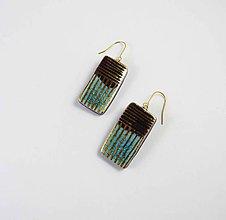 Náušnice - TANA hand made jewellery - keramika/zlato - 11997543_