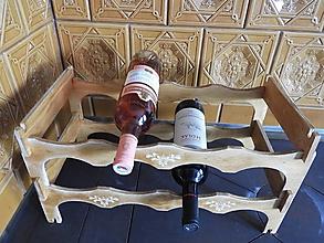 Pomôcky - Rustikální stojan na 8 lahví vína - 12000083_