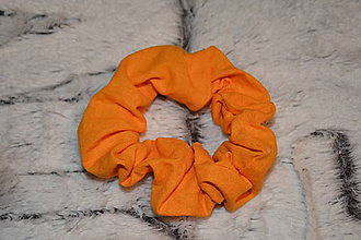 Ozdoby do vlasov - Oranžová scrunchies - 11999167_