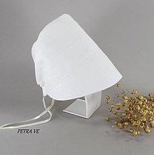 Detské čiapky - White - detský ľanový čepček - 11999854_