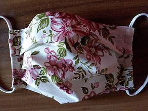 Rúška - Letné rúško  jednovrstvové/kvety - 11999132_
