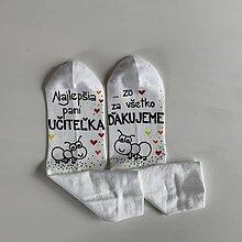 Obuv - Maľované pestrofarebné ponožky pre PANI UČITEĽKU mravčekov (2) - 11998840_
