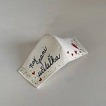 Rúška - Výnimočné maľované ľanové rúško (pre naj pani učiteľku) - 11999270_