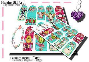 Papier - Handmade cedulky,štitky - Digital - 11998564_