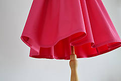 Šaty - Ružové šaty s golierikom a bodkovanou mašľou - 11999997_