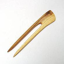 Ozdoby do vlasov - Drevená ihlica do vlasov - jaseňová - 11999765_