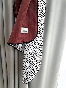 Textil - Stylova muselinova deka Indian dots 90x90cm (aj ako osuska) - 12001801_