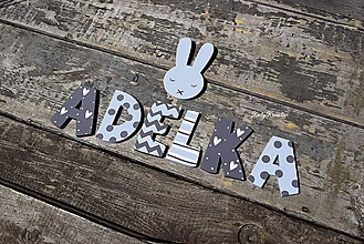 Detské doplnky - drevené písmenká - 12001325_