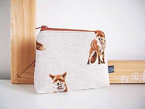 Taštičky - Kozmetická taška malá režná - líška - 12001380_