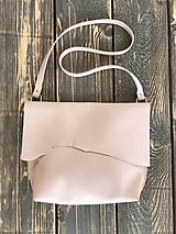 - kožená taška_bledo ružová  - 12001572_