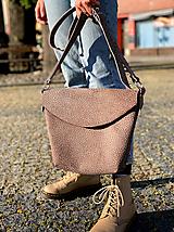 Kabelky - kožená taška_hnedá_zľava - 12001636_