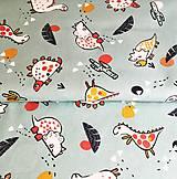 Textil - dinosauri na mentole; 100 % bavlna Francúzsko, šírka 150 cm - 12001354_