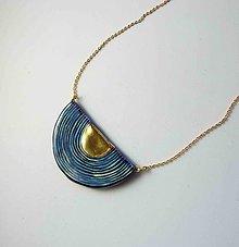 Náhrdelníky - TANA hand made jewellery - keramika/zlato - 12001553_
