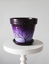Nádoby - Terakotový kvetináč - Štvormesačná noc (veľký) - 12001834_