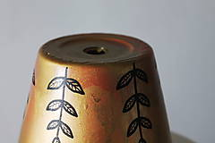 Nádoby - Terakotový kvetináč - Golden sweet - 12002081_