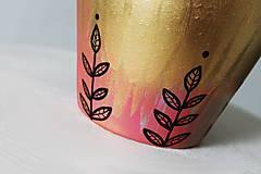 Nádoby - Terakotový kvetináč - Golden sweet - 12002083_