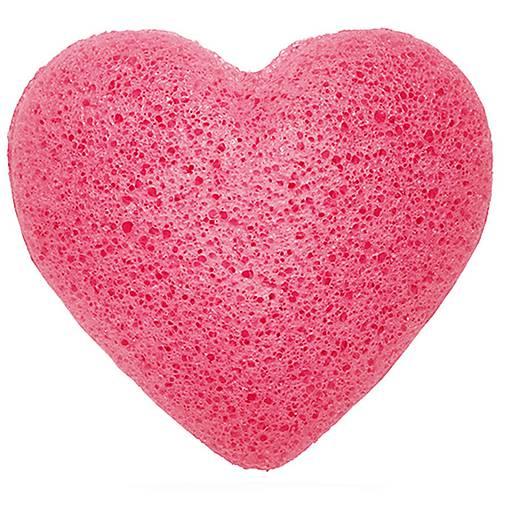 Špongia Konjac Srdce - Ružová