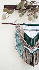 Dekorácie - Macramé nástenná dekorácia - Lesná víla - 12002986_