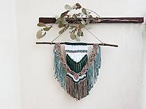 Dekorácie - Macramé nástenná dekorácia - Lesná víla - 12002988_