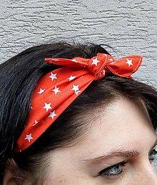 Ozdoby do vlasov - Čelenka  orandžová - 12003508_
