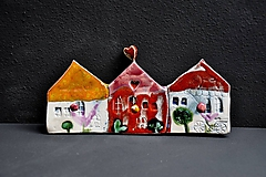Nábytok - 3 vešiak dom červeno žltý  - 12002262_