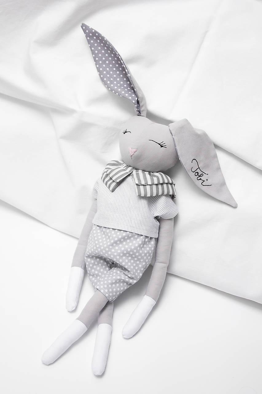 Hračky - Šedý zajačik - 12003906_