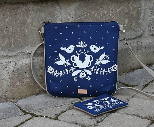 Modrotlačová kabelka Dara set AM