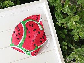 Rúška - Rúško 2 vrstvové melón - 12004140_