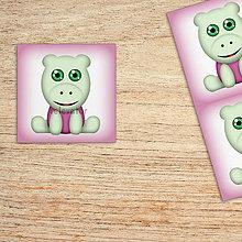 Detské doplnky - Samolepiace štítky roztomilé zverky safari/džungľa - hroch - 12003004_