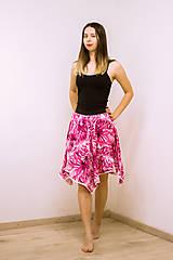 Sukne - Midi sukňa Tropical Pink - 12002283_
