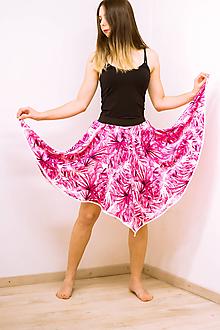 Sukne - Midi sukňa Tropical Pink - 12002282_