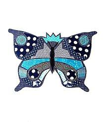 Materiál ručne robený - Motýľ aplikácia - 12006214_