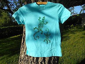 Detské oblečenie - ,,jašteričky,, tričko- - 12007280_
