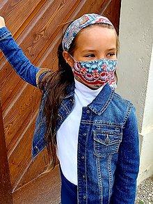 Rúška - SADA - Dievčenské rúško so šatkou - 12004701_