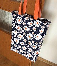 Nákupné tašky - veselá taška margarétky - 12005810_