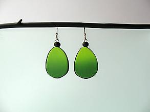 Náušnice - ,,Zelené slzičky,, - 12007114_