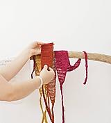 Ozdoby do vlasov - Letné ľanové čelenky do vlasov - pestrá lúka (Škoricová/deep orange) - 12005961_